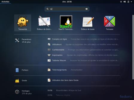 Nouvelle interface de recherche de GNOME