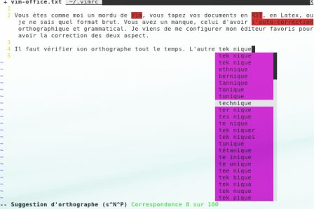 vim completion orthographique