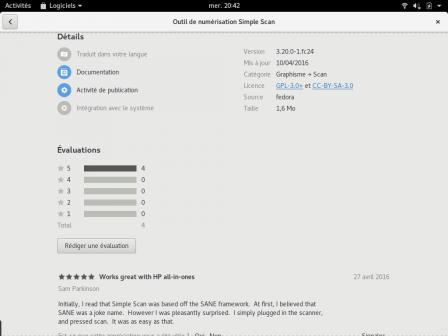 Commentaires, notes et autres infos dans GNOME Logiciels !
