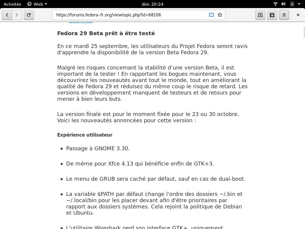 Fedora 29 - LinuxFr org